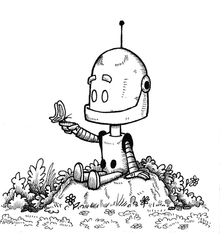 Robot con Mariposa - Opus 1